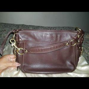 Coach hobo brown leather bag